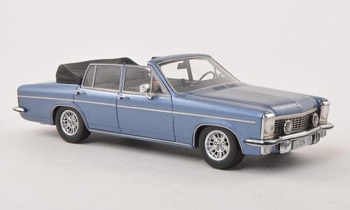 Opel Diplomat B Cabriolet Fissore 1971 Blauw 1-43 Neo Scale Models