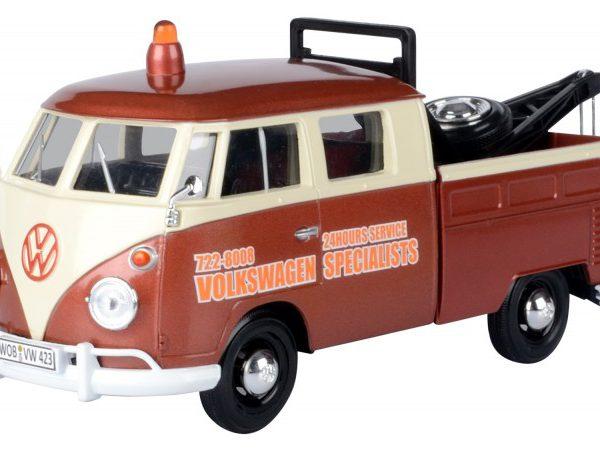 Volkswagen T1 Pick up Takelwagen 1950 Bruin 1-24 MotorMax