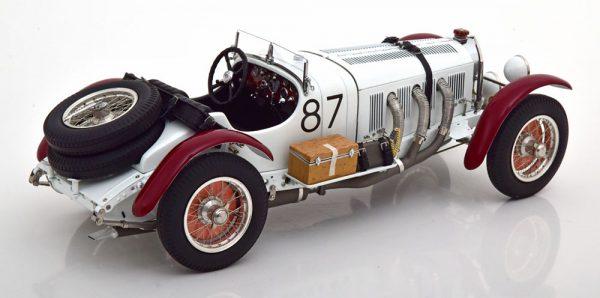 "Mercedes-Benz SSKL No.87, Mille Miglia 1931 ""Caracciola"" Wit / Rood 1-18 CMC ( Metaal )"
