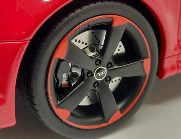 Audi RS3 8P Sportback 2011 Misano Red with Black wheels 1-18 DNA Collectibles Limited Edition