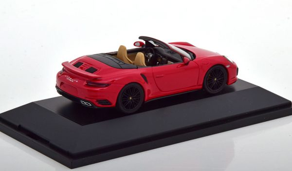 Porsche 911 (991/2) Turbo S Cabrio 2016 Rood 1-43 Herpa