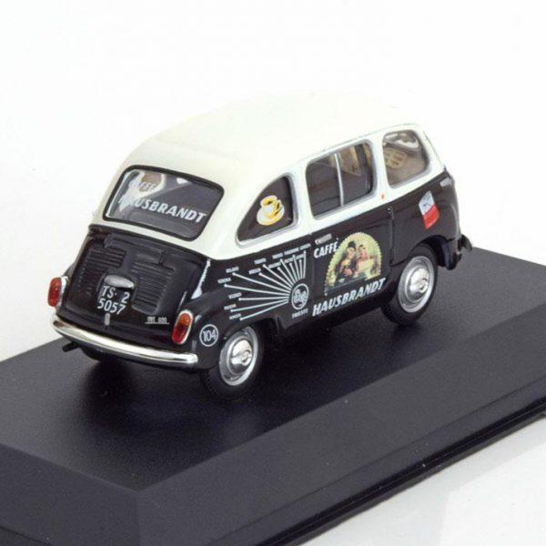 "Fiat 600 Multipla ""Cafe Hausbrandt"" 1956 Zwart / Wit 1-43 Altaya"