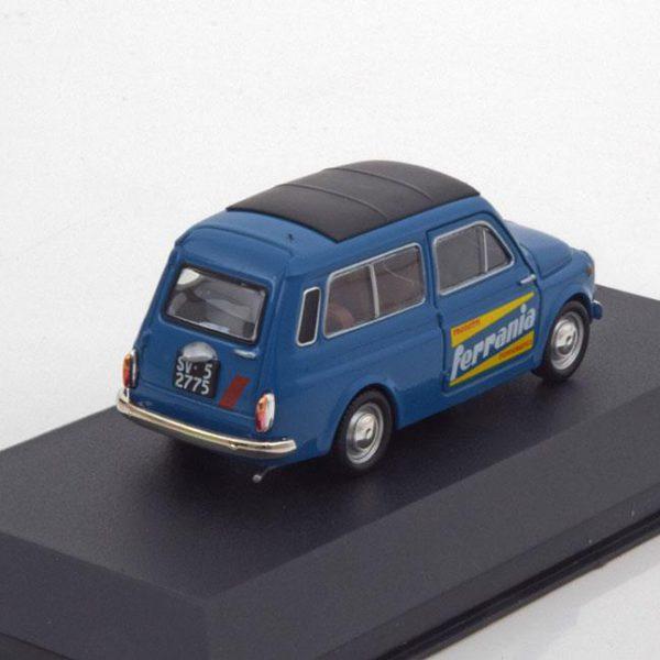 """Fiat 500 Giardiniera """"Ferrania"""" 1964 Blauw 1-43 Altaya"""