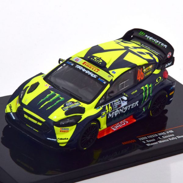 "Ford Fiesta WRC #46 Winner Monza Rally Show 2018 ""Monster "" Valentino Rossi 1-43 Ixo Models"