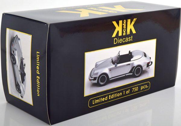 Porsche 911 Speedster 1989 Zilver 1-18 KK Scale Limited 750 Pieces