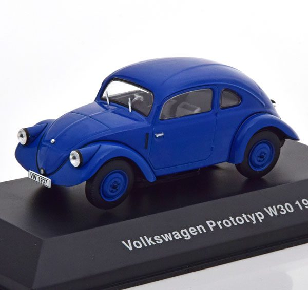 Volkswagen Prototyp W30 1937 Blauw 1-43 Altaya Volkswagen Collection
