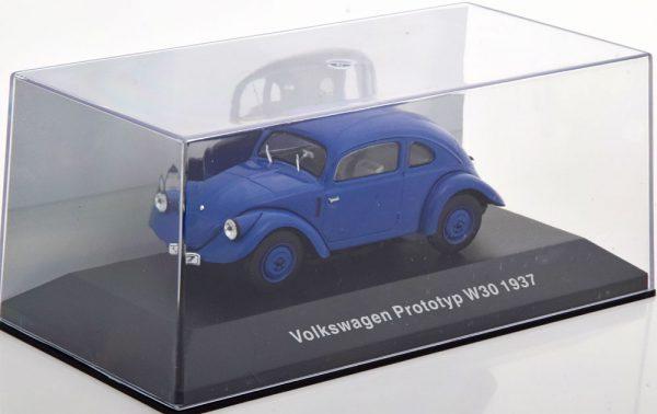 Volkswagen Prototyp W30 1937 Blauw 1-43 Altaya Volkswagen Collection
