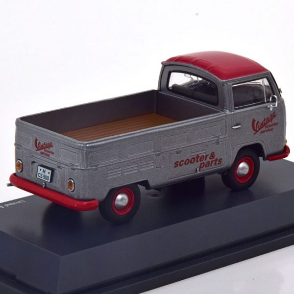 "Volkswagen T2a Pick Up ""Vintage Scooter Service"" Grijs / Rood 1-43 Schuco Limited 500 Pieces"