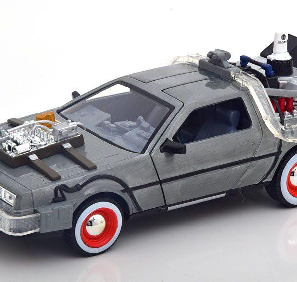 "De Lorean Time Machine ""Back to the Future 3"" met Led verlichting 1-24 Jada Toys"