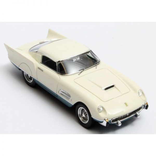 Ferrari 410 Superamerica Superfast Speciale Coupe Pininfarina 1956 Wit/Blauw Metallic 1-43 Matrix Scale Models Limited 408 pcs.