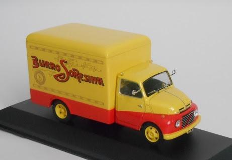 "Fiat 615 N Frigorifero 1955 ""Latteria Soresina"" Geel / Rood 1-43 Altaya"