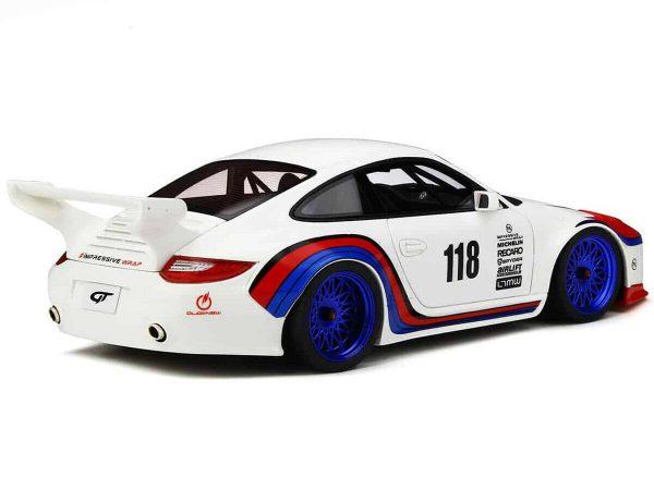 Porsche 911 (997 II ) Old & New body 935 kit 2018 #110 Wit / Rood / Blauw 1-18 GT Spirit Limited 999 Pieces