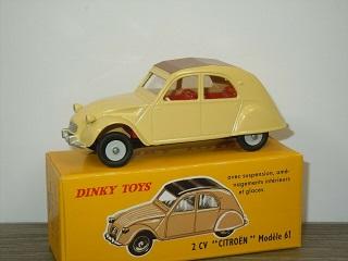 Citroen 2CV ( Modele 61 ) Geel 1-43- Dinky Toys ( Atlas )