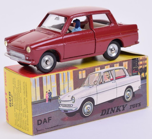 Daf 33 Bordeaux Rood 1-43 Dinky Toys ( Atlas )