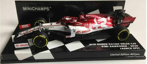 Alfa Romeo Racing Orlen C39 Kimi Raikkonen 2020 Launch Spec. 1-43 Minichamps Limited 402 Pieces