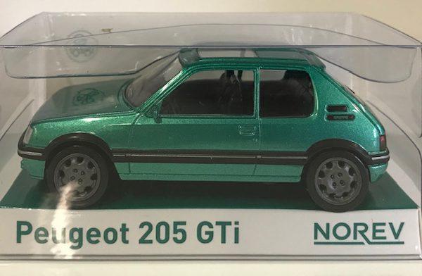 Peugeot 205 GTI 1992 Groen Metallic 1-43 Norev Jet Car