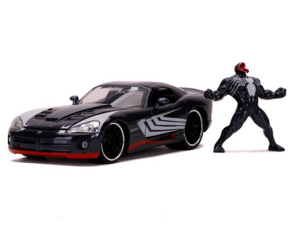 "Dodge Viper 2008 ""Venom Grijs 1-24 Spiderman Marvel Jada Toys"
