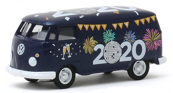 "Volkwagen Panel Van ""Happy New Year 2020"" 1-64 Greenlight Collectibles"
