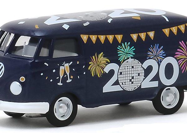 """Volkwagen Panel Van """"Happy New Year 2020"""" 1-64 Greenlight Collectibles"""