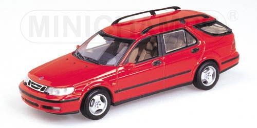 Saab 9-5 Break 1999 Rood 1-43 Minichamps
