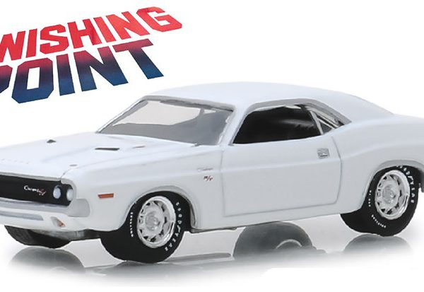 "Dodge Challenger R/T 1970 ""Vanishing Point"" 1-64 Wit Greenlight Hollywood Collection"