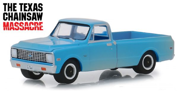 Chevrolet C-10 1971 The Texas Chainsaw Massacre 1-64 Blauw Greenlight Hollywood Collection