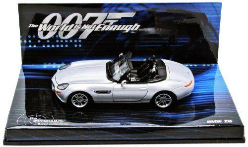 BMW Z8 James Bond 007 'The World Is Not Enough' Zilver 1-43 Minichamps
