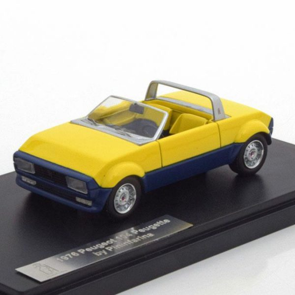 Peugeot 104 Peugette by Pininfarina 1976 Geel/Blauw 1-43 Matrix Scale Models Limited 408 pcs.