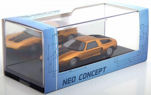 Mercedes-Benz C111-IID Concept Car 1976 Oranje Metallic / Zwart 1-43 Noe Scale Models ( Resin )