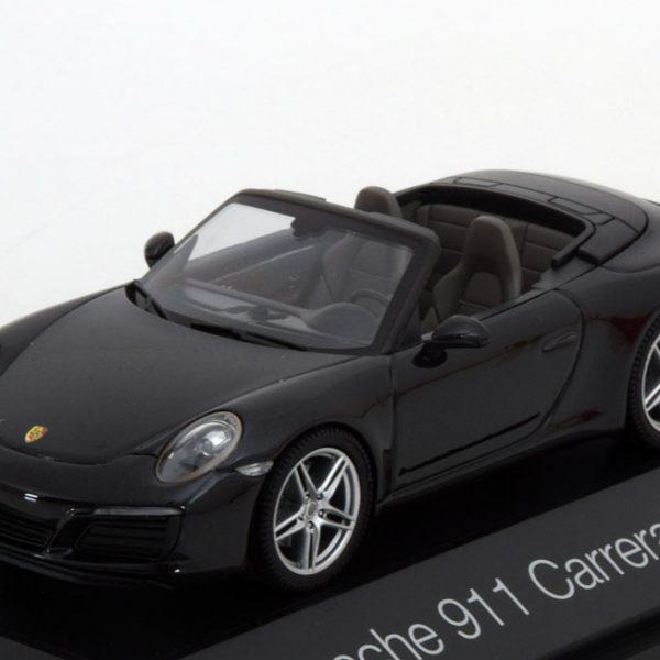 Porsche 911 (991 II) Carrera Cabriolet 2016 Zwart 1-43 Herpa