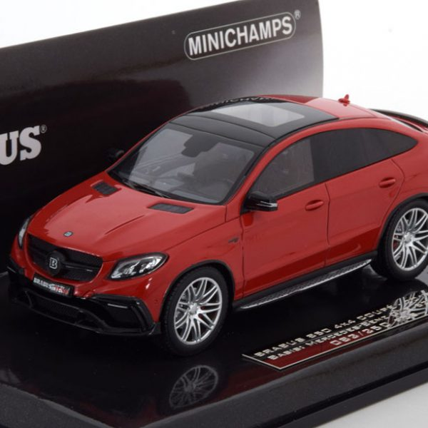 Mercedes-Benz Brabus 850 4x4 Coupe ( Basis GLE 63S ) 2016 Rood 1-43 Minichamps Limited 250 Pieces ( Resin )