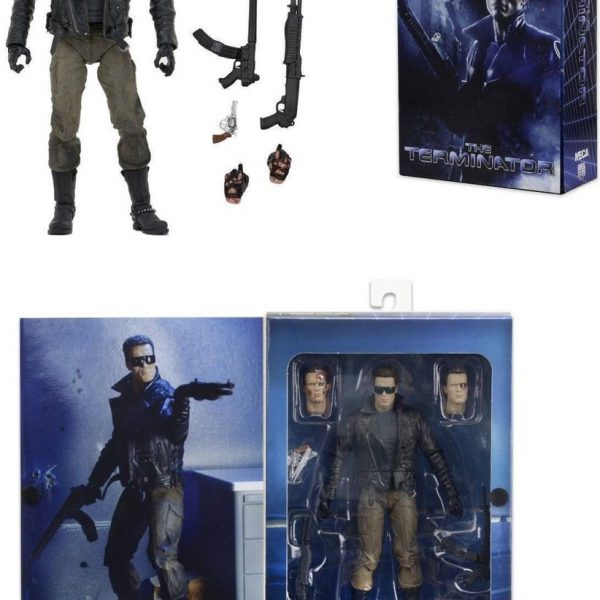 The Terminator: Ultimate Police Station Assault T-800 (Arnold Schwarzenegger) Afmeting 7 Inch Neca