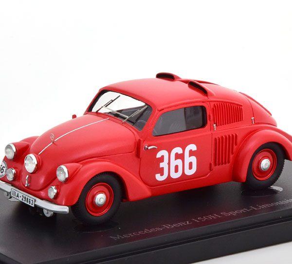 Mercedes-Benz 150H Sport-Limousine 1934 Rood 1-43 Autocult Limited 333 Pieces