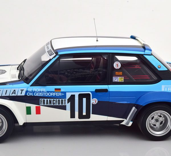 Fiat 131 Abarth Gr.4 No.10, Rally Monte Carlo 1980 Röhrl/Geistdoerfer Blauw / Wit 1-12 Ottomobile Limited 999 Pieces