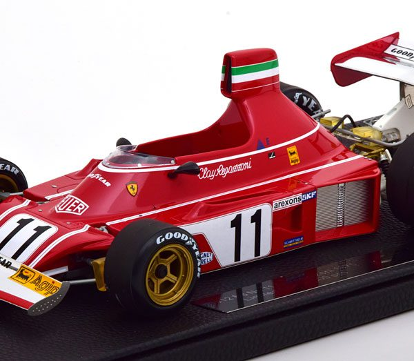 Ferrari 312 B3 1975 C.Regazzoni 1-18 GP Replicas Limited 500 Pieces ( Resin )
