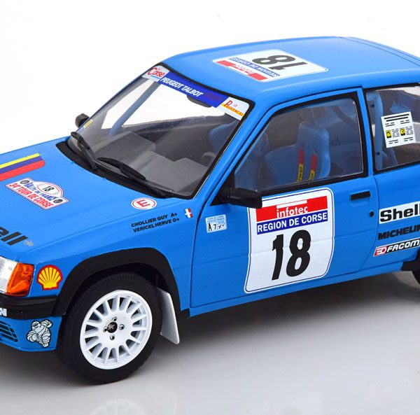 Peugeot 205 No.18, Tour de Corse 1990 Chollier/Vericel 1-18 Solido