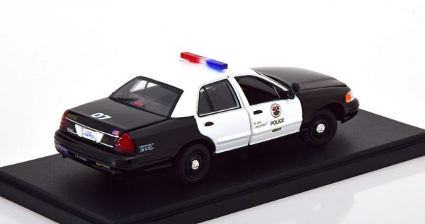 "Ford Crown Victoria 2008 ""Police Interceptor"" The Rookie Zwart / Wit 1-43 Greenlight Collectibles"
