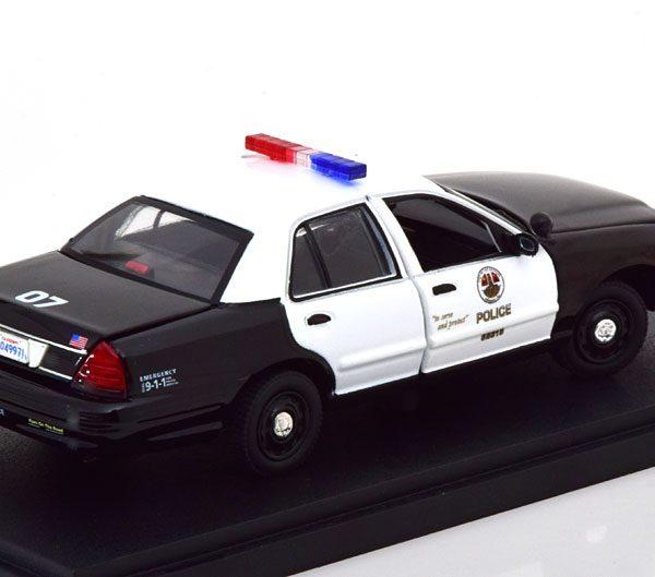 "Ford Crown Victoria 2008 ""Police Interceptor"" The Rookie Zwart / Wit 1-43 Greenlight Collectibles"