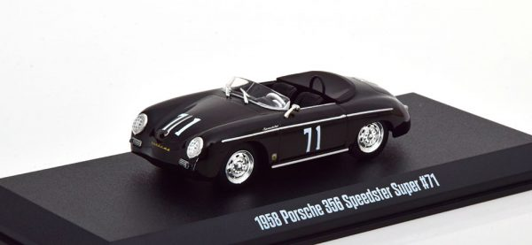 Porsche 356 Speedster 1958 Super No.71 Zwart 1-43 Greenlight Collectibles