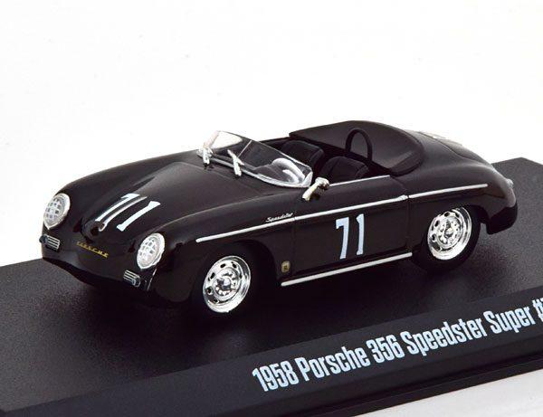 Porsche 356 Speedster 1958 Super No.71 Zwart 1-43 Greenlight Collectibles