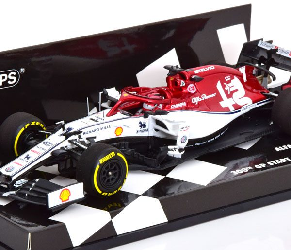 Alfa Romeo Racing C38 300th GP Start Monaco 2019 Kimi Raikkonen 1-43 Minichamps Limited 432 Pieces