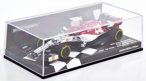 Alfa Romeo Racing C38 300th GP Start Monaco 2019 Kimi Raikkonen 1-43 Minichamps Limited 432 Pieces