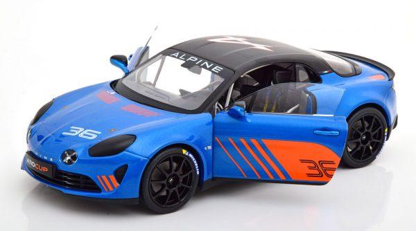 Renault Alpine A110 No.36, Cup 2019 Blauw / Oranje 1-18 Solido