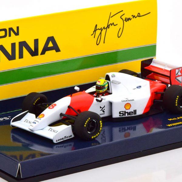 McLaren Ford MP 4/8 Winner GP Japan 1993 Ayrton Senna 1-43 Minichamps Limited 504 Pieces