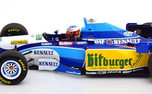 Bennetton Renault B195 Winner GP Pacific, World Champion 1995 M.Schumacher 1-18 ( Met Decals ) Minichamps Limited 600 Pieces