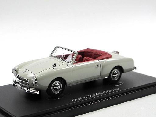 Beutler Spezial Cabriolet (Switzerland, 1953) Lichtgrijs 1-43 Autocult Limited 333 Pieces