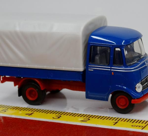 Mercedes-Benz L 319 Pick Up Blauw / Grijs 1-87 Brekina