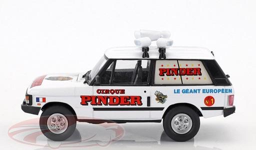"""Range Rover 1970 """"Circus Pinder"""" Wit 1:43 Altaya"""
