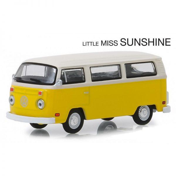 Volkswagen Type 2 (T2) Bus 1978 Little MISS SUNSHINE 1-64 Geel Greenlight Hollywood Collection