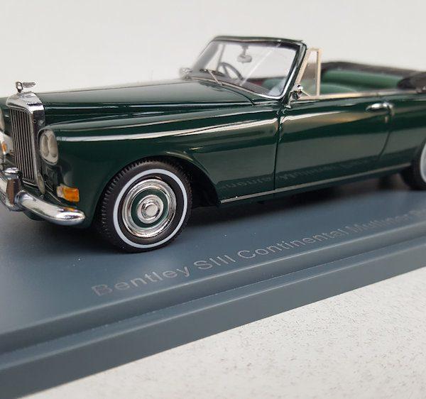 Bentley SIII Continental Mulliner Park Ward Convertible 1-43 Groen Neo Scale Models